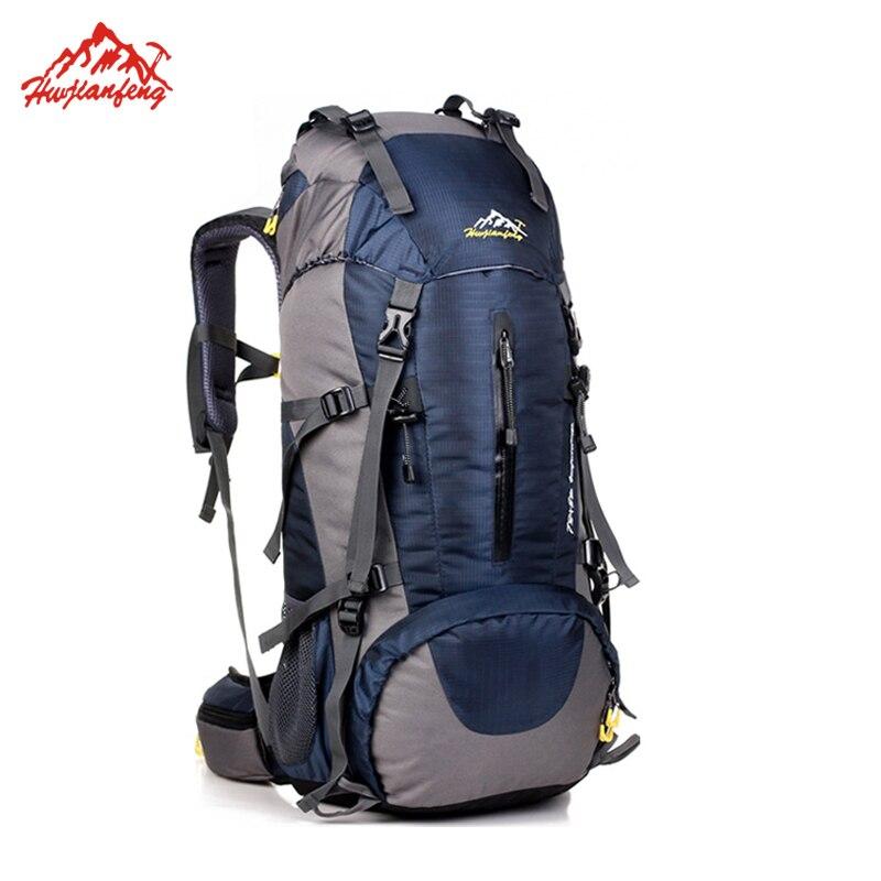 Waterproof Travel Hiking Backpack 50L, Sports Bag For Women Men, Outdoor Camping Climbing Bag, Mountaineering Rucksack <br>