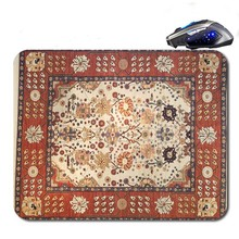 Persian Carpet Free Shipping Best Price Black Rubber Print Mouse Mat Laptop Computer Gaming Mice Pads For Optical Laster Mats(China)