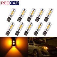 10pcs Amber T10 W5W LED Bulbs 10SMD CANBUS OBC Error Free LED Lamp 501 dash Car LED bulb interior Auto Lights Source parking 12V(China)