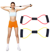 Elastic Fitness Resistance Bands Exercise Tubes Practical Muscle Training Pull Rope Yoga Band Rope Elastic Band Gym Equipment(China)