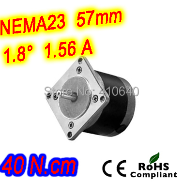 Round shape 10 pieces per lot step motor 23HR16-1564S  L 41 mm Nema 23 with 1.8 deg  1.56 A  40 N.cm and  bipolar 4 lead wires<br>