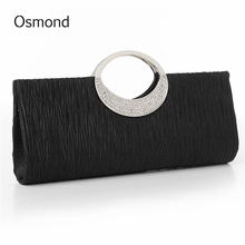 Women Box Clutch Lady Satin Bags High Quality Purse Wedding Clutch Evening Bags Handbags Bling Bling Party Shoulder Luxury