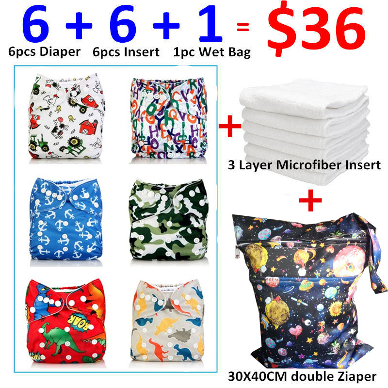 [Mumsbest] Adjustable Washable Reusable Waterproof Child Boy Cloth Nappy Set Diaper Pack Sale Wholesale Nappies Lot for Baby Boy<br>