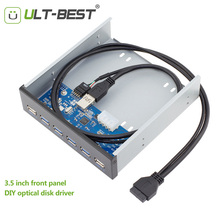 ULT-Best USB 3.0 Front Panel DIY Optical Drive Motherboard 20pin to 4-port USB3.0 +2-port USB2.0 HUB Cable 50CM(China)
