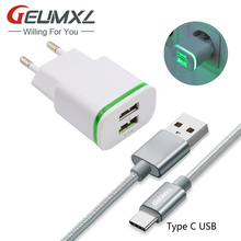 Buy GEUMXL 2 Port USB EU Plug AC Home Travel Charger + 3F Type C USB Cable Samsung Galaxy S8 A320F A520F A720F A3 A5 A7 2017 for $4.00 in AliExpress store