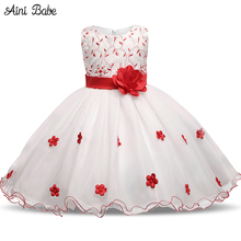 Aini Babe Kids Girl Party Dress For Evening Prom Gown Tulle Wedding Bridal Toddler Girl Clothes Princess Dress Girl Costume 8Yrs