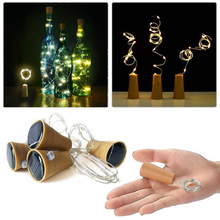 8 10 LED Solar Wine Bottle Stopper Copper Fairy Strip Wire Outdoor Party Decoration Novelty Night Lamp DIY Cork Light String