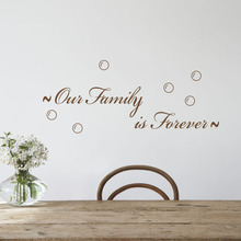 Family Wall Sticker Quotes Our Family Is Forever Removable Vinyl Decal for Living Room Decoration