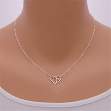 10pcs Personalized Best Friend Love Heart Peace Sign Necklaces Gold Color Simple Stainless Steel Pendant Necklace For Women