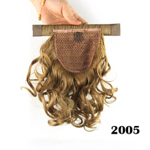 Lady's Natural Wave Magic Paste Blonde Ponytails Hairpieces Short Synthetic Hair Pad Cabelo Sintetico Peruca Peluca 11 Colors