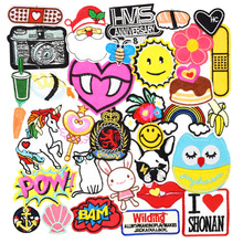 Diy patches for clothing iron embroidered patch applique iron on patches sewing accessories badge stickers for clothes bag 10pcs