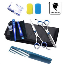 Barber scissors tools hair scissor child flat cut fringe cutting teeth thinning scissors combination set XH01