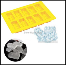 free shipping 1200pcs/lot FDA LFGB Ice Mold Silicone Ice Cube Tray Brick Block