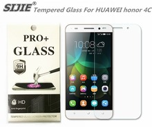 SIJIE Tempered Glass For HUAWEI honor 4C 0.26mm Screen Protector front stronger 9H hardness thin discount with Retail Package
