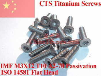 Titanium screws M3X12 ISO 14581 Flat Head  Torx T10 DriverPolished<br><br>Aliexpress