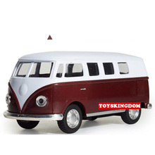 Classic 1:32 scale VOLKSWAGEN diecast cars micro bus MPV T1 metal model with light and sound pull back alloy toys collection