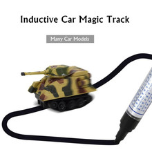 MylitDear Inductive Car Mini Magic Track Car Fangled Vechicle Children's CAR Truck Tank Toys For Children Best Gifts