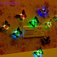 KAKUDER Top Grand Wall Stickers Night Lights Can Paste  LED  Creative Colorful Small Fancy Lantern Butterfly Feb