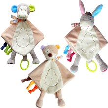 New Baby Teether Toys Baby Boys and Girls Animal Comforter Plush Toy with Silicone Teether Hot Selling Teethers For Toddler Baby(China)