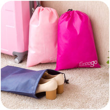 Thick non-woven clothing and travel Storage Bag, drawstring shoe bag travel clothing pouch