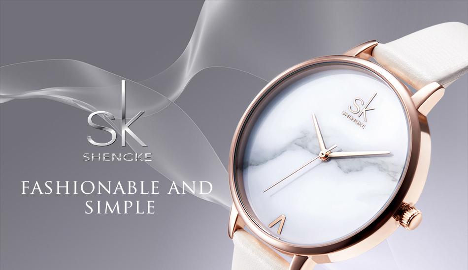 ساعة نسائية حزام جلد أنثى كوارتز الوان جميلة 2