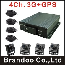 Cheap 3G Car DVR kit, works with GPS, live stream on PC and mobile phone, FREE CMS, for bus,truck,taxi used