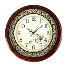 Decoration Art Decoration Art quartz watches Chinese wood wall clock retro fashion creative room carved Chinese quartz(China)