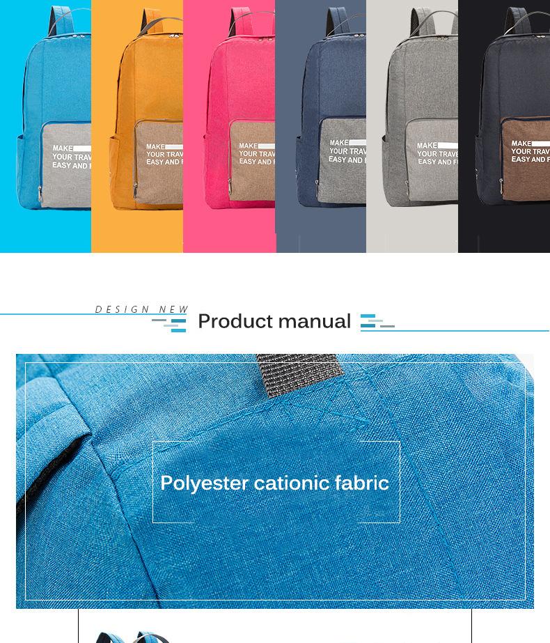 Folding bags detail