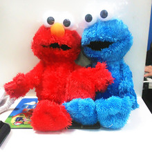 30cm Cute Sesame Street Plush Toys Elmo Big Vird Cokkie Monster  Stuffed Dolls Toy Children Birthday Gifts Party Presents