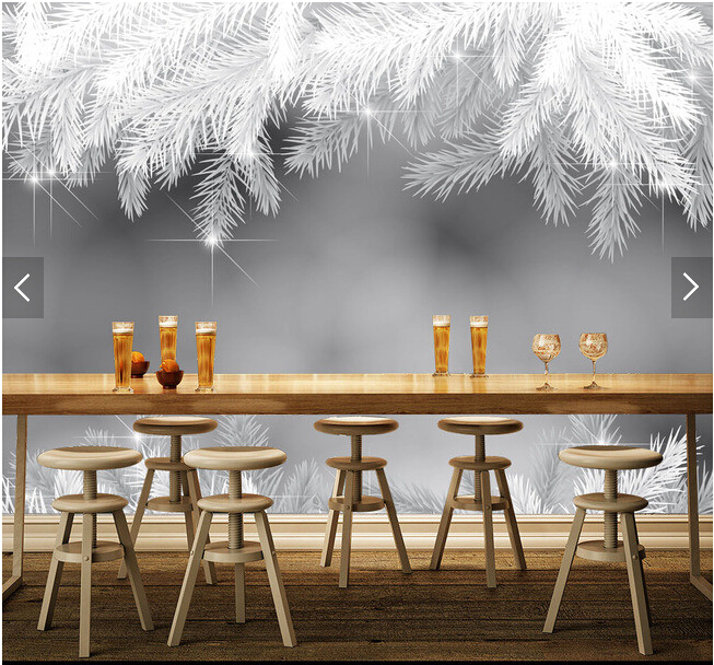 Custom 3 d papel DE parede, snow Christmas landscape murals for the sitting room  bedroom TV setting wall waterproof wallpaper <br>