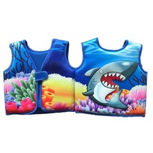 3D Printing Sandbeach Children's Inflatable Swimming Vest Water-Skiing Jackets Neoprene Kids Life Jacket(China)