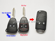 2 Buttons Replacement Modified Flip Remote Key Shell Case For Chrysler 300C Sebring Dodge Caliber Jeep Compass Fob Key Cover(China)