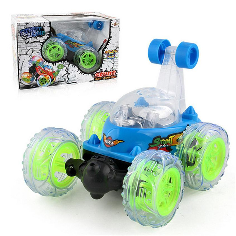 MUQGEW New 360Spinning Flips Color Flash & Music Kids Remote Control Car RC cars Toys Children