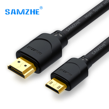 SAMZHE Mini HDMI to HDMI 1080P Male to Male Cable for Computer Connect Camera Projector Laptop(China)