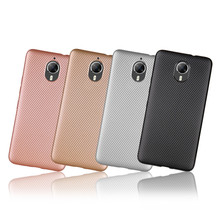 For Google Android One GM5 Plus Case Carbon Fiber Soft Light and thin Back Cover For General Mobile GM 5 Plus Phone Bag Cases