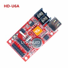 LYSONLED Special Offer 3pcs/lot HD-U6A USB-disk LED Display Control Card , Support 32x320 Pixels P10 Text LED Display Screen