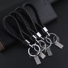New Fashion Men Leather Key Chain Ring Keyfob Car Keyring For BMW VW Audi Toyota Honda Ford Key Holder