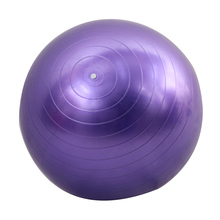 Women 65cm Fitness Exercise Gym Fit Yoga Core Ball Indoor Training Ball Purple(China)