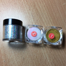 Hot sell 4g/Box Holographic Laser Powder Nail Glitter Rainbow Chrome Powder Metal Pigments Dust Nail Tools with Eyeshadow