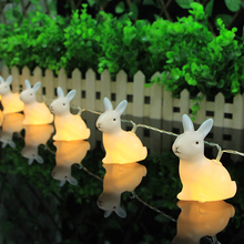 New Hot Sale Rabbit String Light Christmas Strip Lamp 10 LED Wedding Home Decoration Warm White Creative Gifts