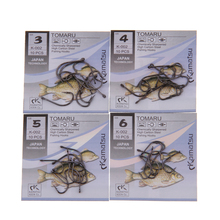 50pcs/lot Brand TOMARU Size3-Size12 Fishing Hook Barbed Hook Carp Feeder Anzol Fishhook Fishing Tackle  Jig Hook From Japan
