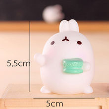 2017 Super Slow Soft Rising Squishy Squeeze Cute Rabbit Cute Smile Nice Toy Practical Novelty Toys(China)