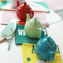 Modern housewife afternoon tea ceramic teapot tea pot flower pot stainless steel filter tea(China)