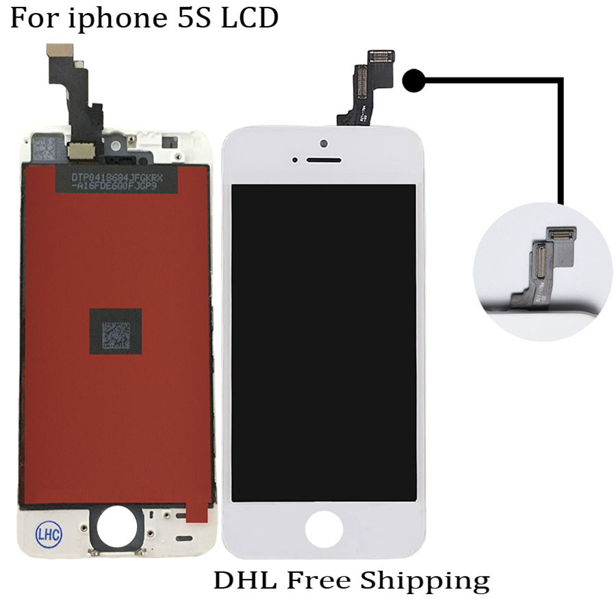 10PCS/LOT LCD For iPhone 5S Screen Digitizer Display Assembly Pantalla Replacement No Dead Pixel DHL Free Shipping<br><br>Aliexpress
