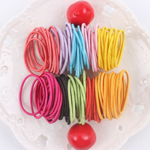 Wholesale 30mm line hair rope elastic color black ponytail holders hair accessories for girls kids rubber bands 2017 10pcs/lot