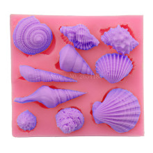 Conch & Snail & Whelk & Shell Silicone Fondant Soap 3D Cake Mold Cupcake Jelly Candy Chocolate Decoration Baking Tool FQ2801