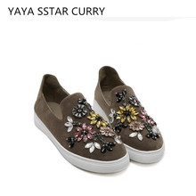 YAYA STAR CURRY New 2017 Totem Watermong Table Shoes Flat with comfortable flat bottom shoes lazy women's shoes tide