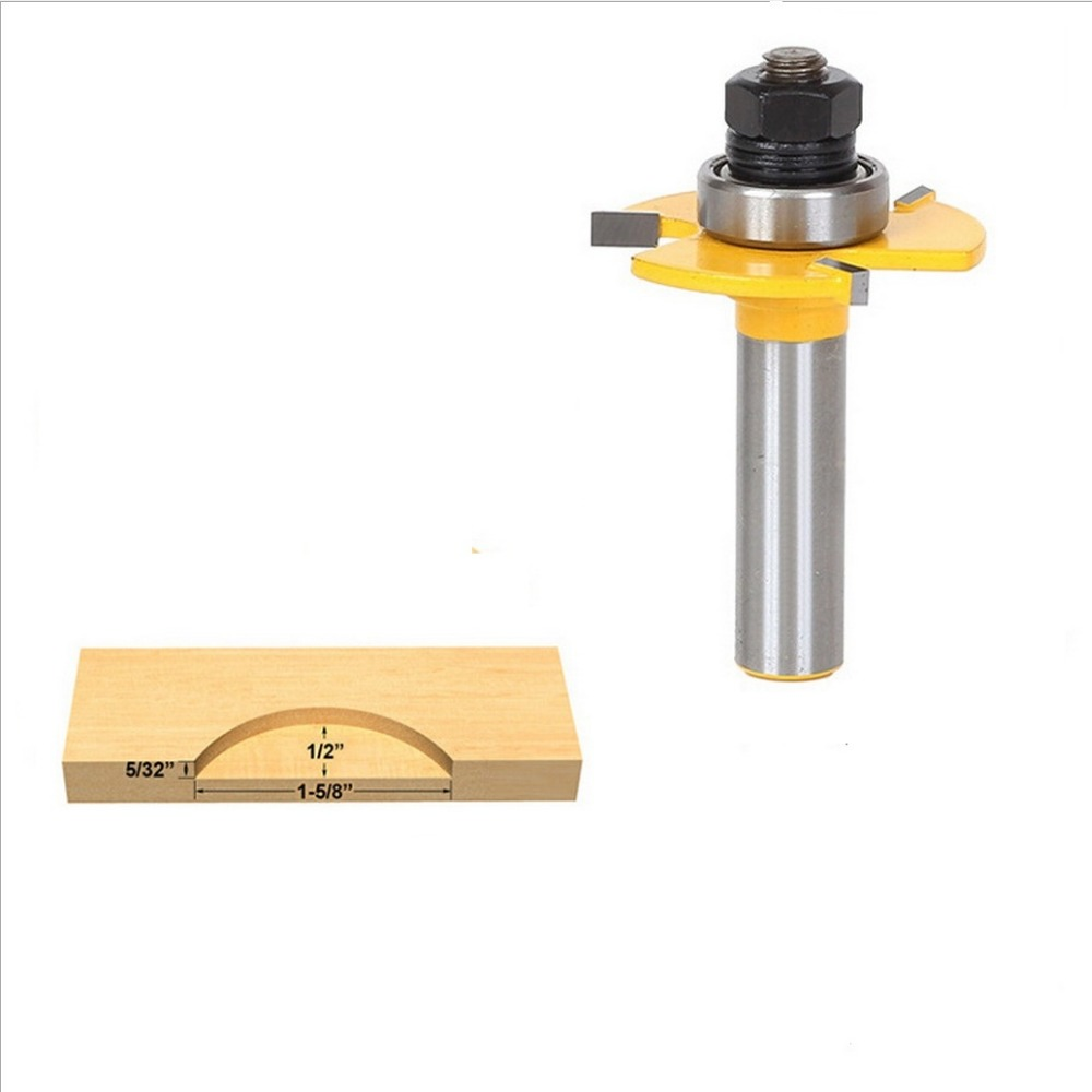 1pc Matched Tongue and Groove Router Bit Set Wood Milling Cutter flooring knife  3 tooth ball type T knife<br><br>Aliexpress