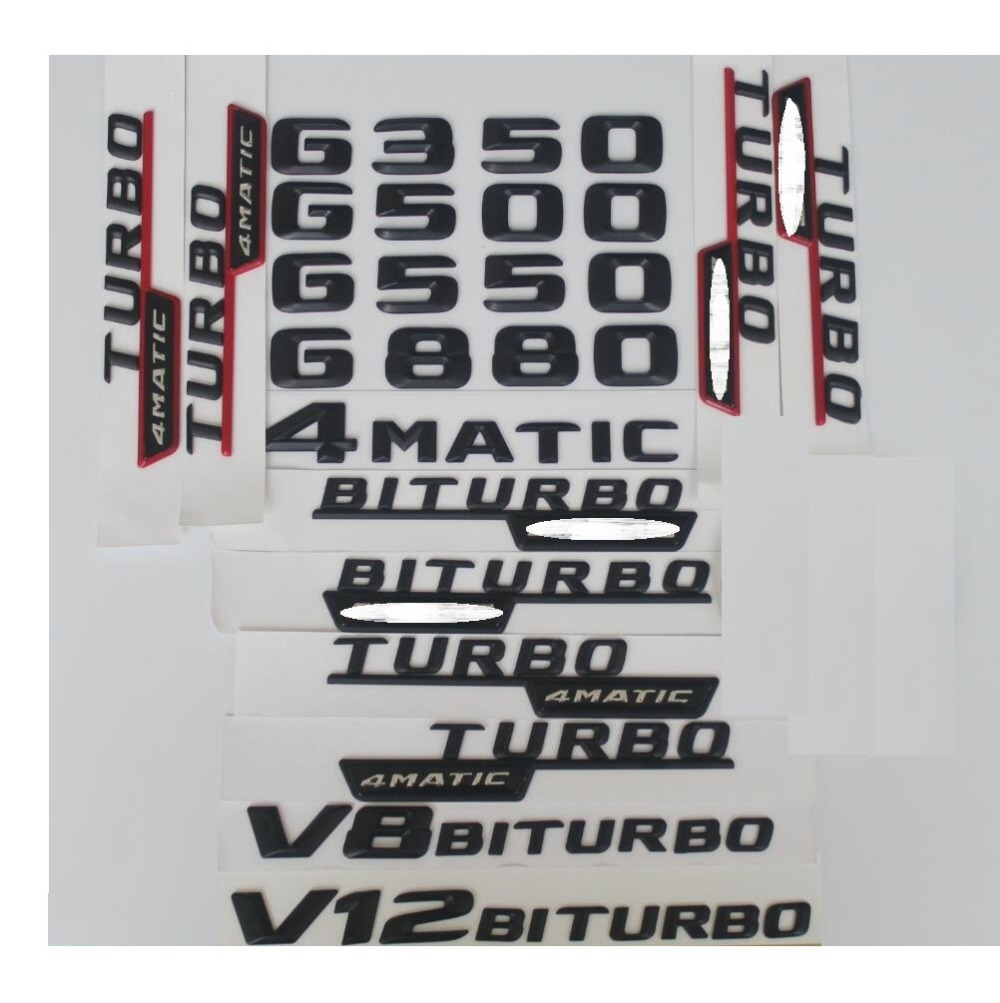 "Matt black /""G350 4 MATIC/"" Letters Trunk Emblem Badge Sticker for Mercedes Benz"