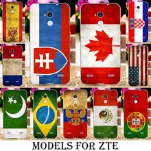 soft tpu Painted USA SPAIN FRANCE Flag Cases ZTE Blade V7 Lite A2 V2 lite A510 A610 V6 Max BA610 Covers shell bags - Blue Mill 3C Products Online Super Market store